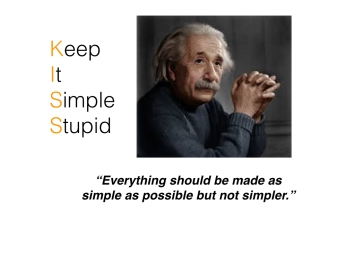 Einstein Keep it Simple.002
